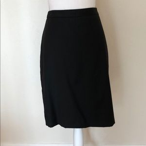 J crew super 120s black pencil skirt